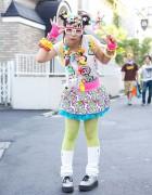 Kawaii Harajuku Decora Fashion w/ Hair Clips, Pinwheel & 6%DOKIDOKI