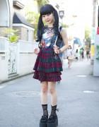 ZZ Top Sleeveless, Kawi Jamele Suspender Skirt & Nadia Harajuku