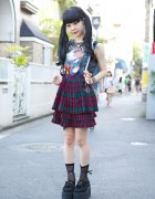 ZZ Top Sleeveless, Kawi Jamele Suspender Skirt & Nadia Harajuku