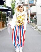 Two Tone Hairstyle, Kawaii Teddy Bears & Resale Fashion in Harajuku