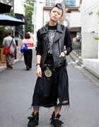 Japanese Hardcore Fan w/ Lilac Mohawk, Studded Vest, Blackmeans & Fuudobrain