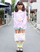 Kawaii Harajuku Street Style w/ Twintails, Milklim & Creepers