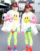 Hennyo Girls in Twin Harajuku Styles w/ Lactose Intoler-art & Madsaki