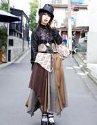 Dir en Grey Fan w/ h.NAOTO, Dark Makeup & Queen Bee Shoes in Harajuku