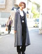 Harajuku Minimal Look w/ Matohu, Yohji Yamamoto & Animal Print Heels
