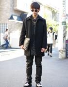 Harajuku Guy Wearing WEGO, Boy London, Round Glasses & Creepers