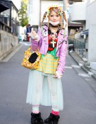 Harajuku Decora w/ Biker Jacket, Tulle Skirt, Claw Shoes & 6%DOKIDOKI