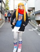 French Fries Hairpin, Panama Boy, WC & Jeremy Scott Sneakers in Harajuku