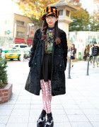 Rolick Harajuku Staffer in Jeffrey Campbell Studded Platforms, Striped Hat & Camouflage
