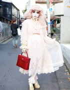 Shironuri Minori's Pastel Pink Hair & Fashion in Harajuku
