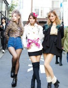 Harajuku Models in MA*RS, Fig&Viper, Lady Made, Dip Dye Hair & Bows