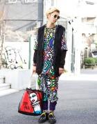 Dream Nation Fashion w/ Faux Fur Vest & Underground x Daniel Palillo Creepers