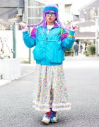 Lilac Hair With Resale Fashion, Glasses & Sponge Bob in Harajuku