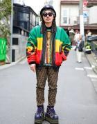 "Michael Hoban ""Africa"" Jacket w/ Fendi Logo Pants, COOGI, Nike Platforms & Chanel"