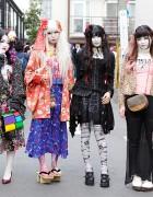 Harajuku Shironuri Girls Wearing Bunkaya Zakkaten, Takuya Angel & h.NAOTO
