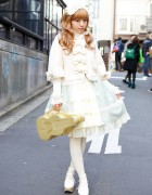 Baby The Stars Shine Bright Dress & Alice and the Pirates Violin Bag in Harajuku