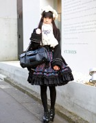 Harajuku Gothic Lolita w/ Frill Fashion, Artherapie Bag & Yosuke Heels