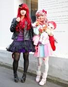 Colorful Harajuku Girls w/ Tutus, Bows, Kuroko no Basuke & 6%DOKIDOKI