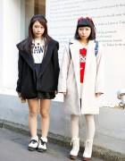 Harajuku Girls w/ Cute Hair Bows, WEGO, Spinns, ANAP & Onespo