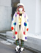 Kyary Fan w/ Troll Dolls, Polka Dots, Panda Sneakers & Princesses in Harajuku