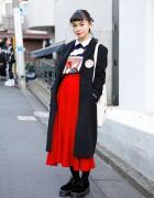 Ruko's Vintage Harajuku Style w/ Gucci Coat, Foxy Tote & Dr. Martens