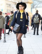 Chanel Skirt Suit, Cat Eye Glasses, Quilted Chanel Bag & YRU Platforms