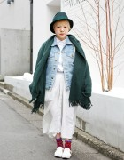 American Apparel Denim Jacket & Skirt w/ Laforet Harajuku Tote