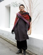 The Viridi-anne Knitted Coat, Sonia Rykiel Pants & Boots in Harajuku