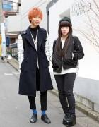 Monochrome Harajuku Looks w/ N.Hoolywood, Toga, Nadia & Beams