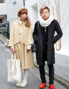 The Virgin Mary Coat & lilLilly vs Kinji Jacket & Scissor Earrings in Harajuku