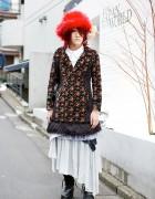GazettE Fan in Harajuku w/ AnkoROCK, Algonquins, Gramm & Furry Hat