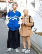 Harajuku Guy & Girl w/ Splatter Vans, Brooklyn Dodgers, Kinji & Retro Girl