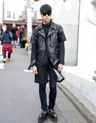 Christian Dada Biker Jacket & Studded Platform Loafers in Harajuku