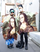 Lady Gaga Fans in Mona Lisa Ponchos from Dog Harajuku