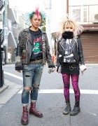Harajuku Punks w/ Crosshawk & Mohawk, Studded Leather & Boots