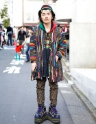 Fashion Buyer in Harajuku w/ Platform Nike, Coogi & Fendi