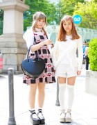 Harajuku Girls w/ Rocking Horse Shoes, The Virgins Top & Strawberry Print
