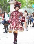 Alice in Wonderland Themed Angelic Pretty Lolita Look in Harajuku