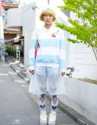 Disney Vinyl Record Tote, Bubbles Sheer Skirt & Jouetie Platforms in Harajuku