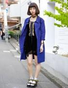Bubbles Harajuku Dress, 6%DOKIDOKI Choker & Composition Book Backpack
