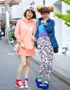 Harajuku Girls w/ Back Number, X-Girl, UNIF, Jouetie & Platform Sandals