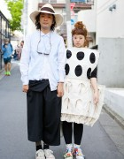 Stylish Harajuku Duo in Comme des Garcons w/ Ganryu & Sunsea Items
