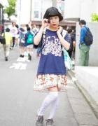 "101 Dalmatians T-Shirt, Strawberry Skirt & ""Kawaii"" Bag in Harajuku"
