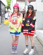 Harajuku Sisters w/ Tiger Head Backpacks, Nadia, WEGO, Mickey & Minnie