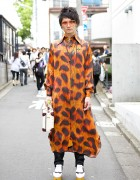 Vivienne Westwood Style in Harajuku w/ Leopard Shirt, Suitcase Bag & Rocking Horse Shoes