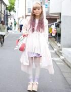 Lilac Hair & Pastel Fashion w/ Nile Perch & Tokyo Bopper in Harajuku