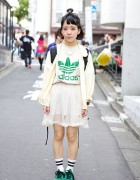 Harajuku Resale Style w/ Sheer Skirt, Adidas & G-Shock Watch