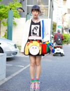 Rainbow Hair, Jenny Fax Cabbage Patch & K3 Platform Sandals in Harajuku