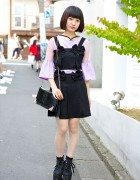 Romantic Standard Bow Dress, Sheer Top & Lace Platforms in Harajuku