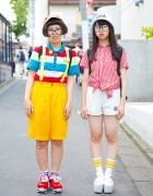 Harajuku Girls w/ Round Glasses, Resale Fashion, Platform Sneakers & Sandals